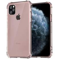ZMKMEN iPhone 11 Pro Case, 5 Times Enhanced Protection Rose Gold Clear Cover Case for iPhone 11 Pro (Rose Gold)