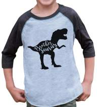 7 ate 9 Apparel Kids Dinosaur Brothersaurus Grey Baseball Tee