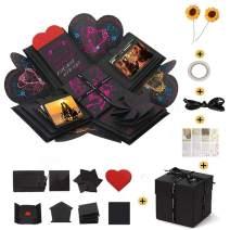 Creative Explosion Gift Box, DIY Handmade Photo Album Scrapbooking for Birthday Party, Wedding, Valentine's Day, Mother's Day, Black