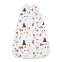 CHILDREN'S GANG Baby Sleeping Bag, Cotton Wearable Swaddle Blanket for Newborn 12 to 18 Month (Little Bear)