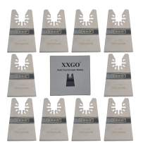 XXGO 10 Pcs Universal 2 Inch Stainless Steel Oscillating Multi Tool Rigid Scraper Blades For Paint, Grout Removal XG1010