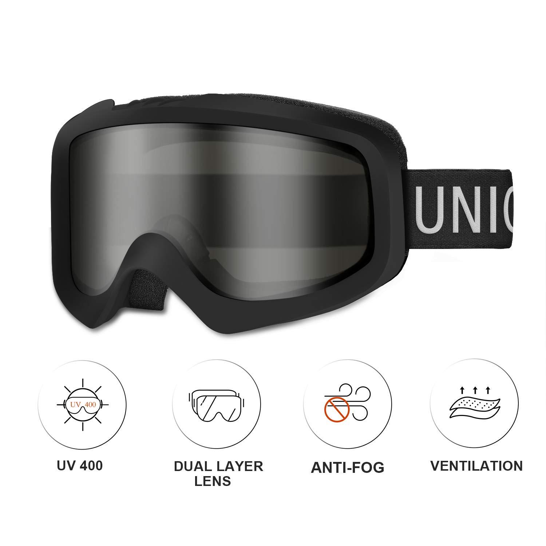 Unigear Skido X1 Ski Goggles, Snowboard Snow Goggles for Men, Women & Youth – Anti-Fog & 100% UV Protection