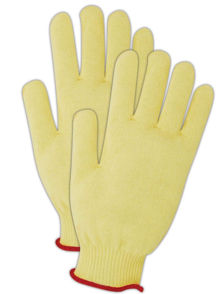 Magid Seamless FR Kevlar Knit Work Gloves | Cut Level 2 Flame Resistant Gloves, Reversible, Puncture Resistant, Ambidextrous - Size 9 (12 Pairs)