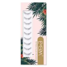 Short 10 Pairs Fake Eyelashes Wispies eyelash 3D False Lashes Natural Look Small Face Eyelashes Soft Reusable Transparent Band Eye Lash 1 Pack 10 Pairs by EMEDA