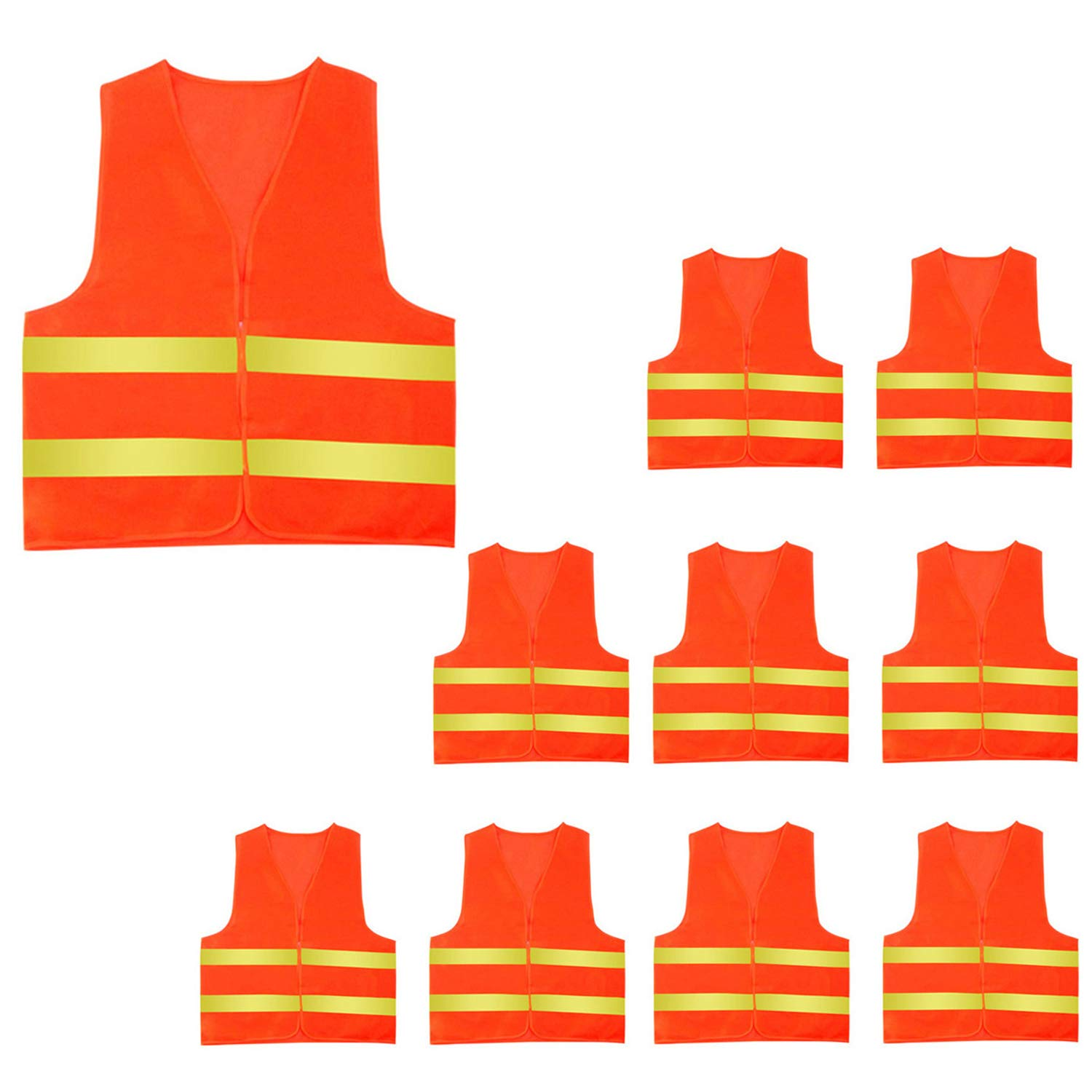 AceAcr High Visibility Construction Vest with Reflective Stripes Safety Vest 5/10 Pack