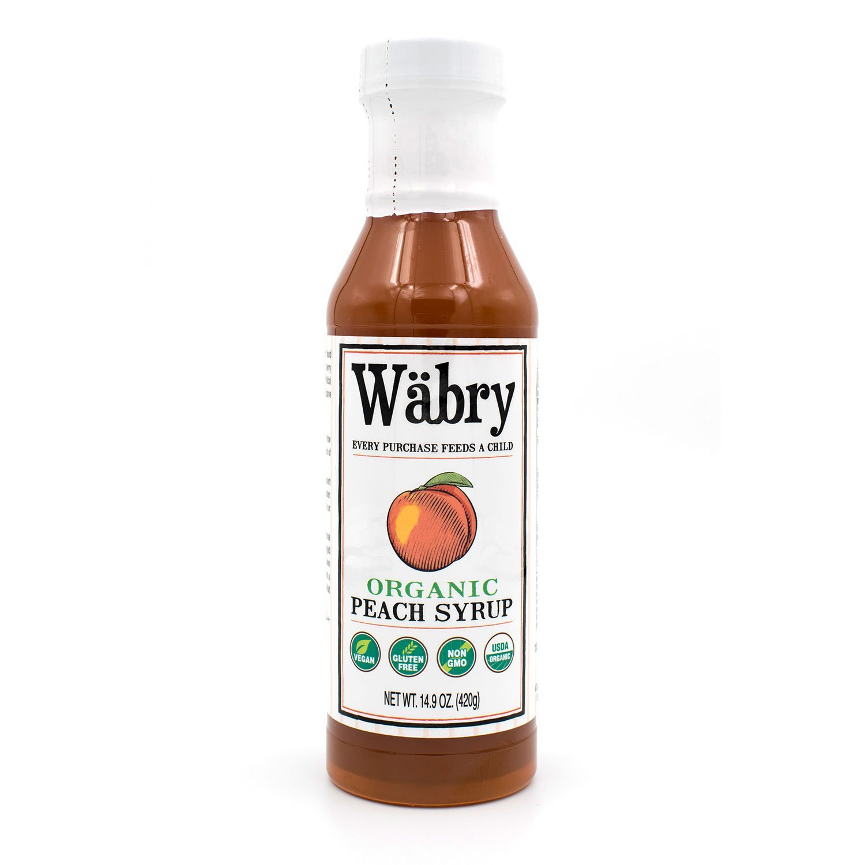 Wäbry Organic Syrup 14.9 oz (Peach)