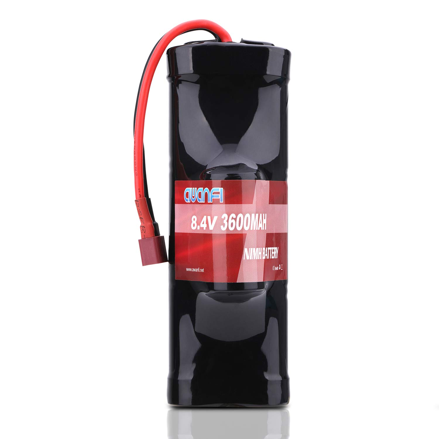 AWANFI 8.4V NiMH Battery 7-Cell 3600mAh Hump Pack NiMH RC Battery with Deans Plug for Most 1/10 Scale RC Car RC Truck RC Boat Traxxas LOSI Associated HPI Kyosho Tamiya Hobby