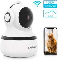 CACAGOO Video Baby Monitor, Security WiFi Camera 1080P Wireless IP Camera Indoor Home Dome Camera with IR Night Vision/Two-Way Audio, Cloud Storage