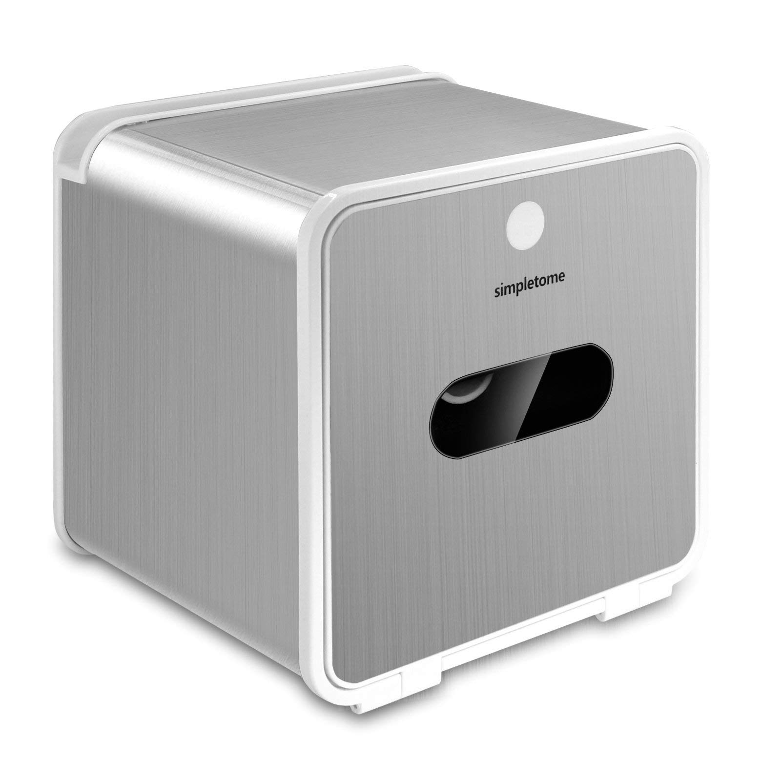 simpletome Adhesive Toilet Paper Holder with Shelf for Phone Tablet PC Full Body Waterproof (SUS304+ABS)