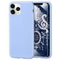 MILPROX iPhone 11 Pro Case with Screen Protector, Liquid Silicone Gel Rubber Shockproof Slim Shell with Soft Microfiber Cloth Lining Cushion Cover for iPhone 11 Pro 5.8 inch (2019)-Blue