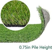 Artificial Grass Turf Lawn - 12FTX12FT(144 Square FT) Indoor Outdoor Garden Lawn Landscape Synthetic Grass Mat