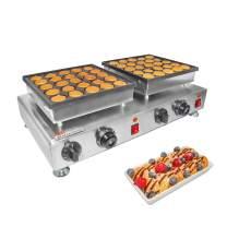 ALDKitchen Poffertje Mini Dutch Pancake Baker Maker 45 mm/ 1.8-Inch Electric Commercial Nonstick (25 Pieces Double)