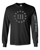 Gadsden and Culpeper Threeper Black Long Sleeve Shirt