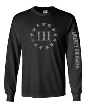 Gadsden and Culpeper Threeper Black Long Sleeve Shirt