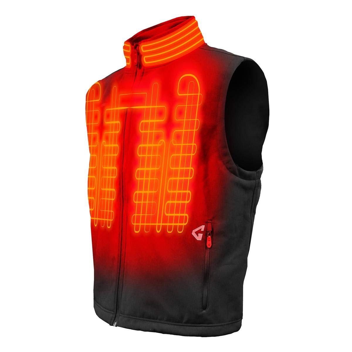 Gerbing Gyde Torrid Softshell Vest – 7V Battery Heated Clothing for Men, Black