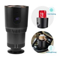 AZFUNN 2-in-1 Smart Car Cup Warmer & Cooler, 12V3A Electric Coffee Warmer Beverage Cooling & Heating Mug with Display Temperature for Road Trip