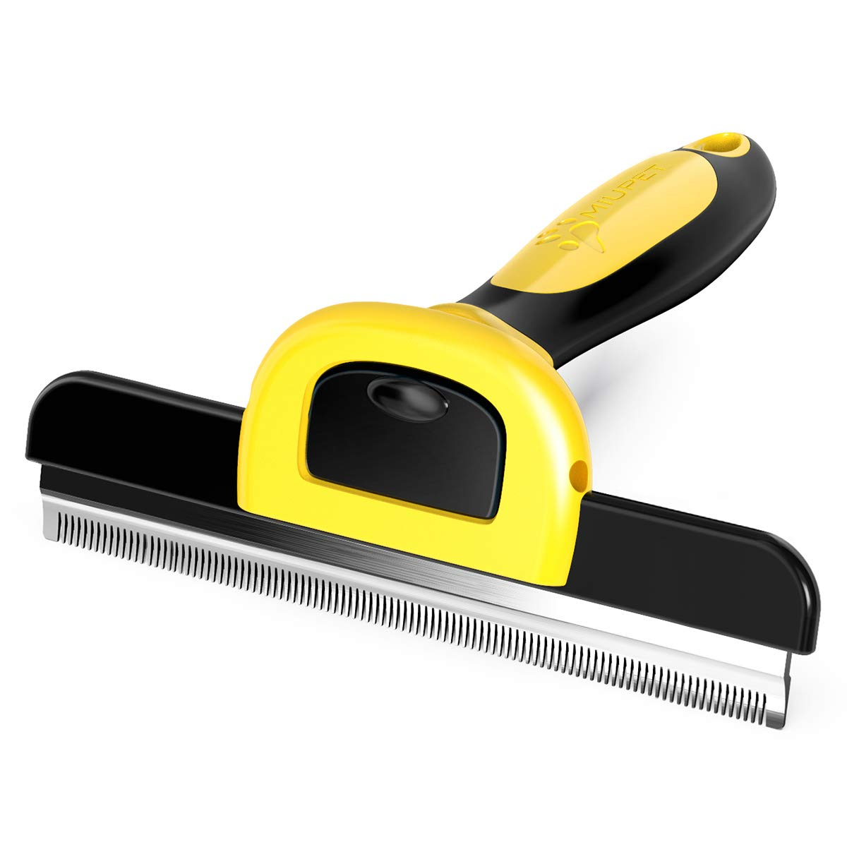 MIU Color Pet Deshedding Brush, Effectively Grooming Tool by Shedding Up to 95%, 5-Inch Length Comb for Short Hair and Long Hair Dogs Cats