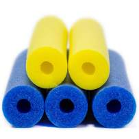 Pool Noodles 5 Pack of 52 Inch Hollow Foam Pool Swim Noodles Blue & Yellow Foam Noodles