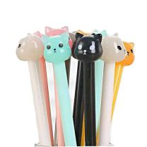 WIN-MARKET Animal Dog Bear Gel Pens Fashion Creative Cute Jelly Colorful Cartoon Black Ink Ball Pens Office School Supply Stationery (6 pcs)