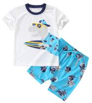 BTGIXSF Toddler Boys Cotton Clothing Sets T-Shirt & Shorts Set Boy Summer Outfits 18M-8Y