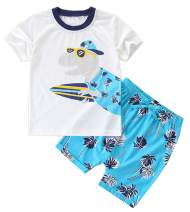 BTGIXSF Toddler Boys Cotton Clothing Sets T-Shirt & Shorts Set Boy Summer Outfits 18M-8Y