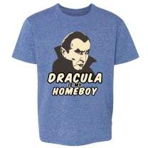 Pop Threads Dracula is My Homeboy Vampire Halloween Costume Toddler Kids Girl Boy T-Shirt