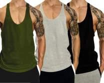 InleaderAesthetics Men's Bodybuilding Gym Solid Color Tank Tops