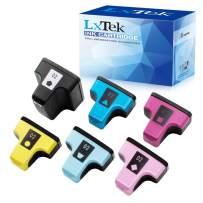 LxTek Remanufactured Ink Cartridge Replacement for HP 02 Q7964AN to use with PhotoSmart C7280 C6280 C5180 C6180 D7360 D7460 8250 C7200 (6 Pack, Black/Cyan/Magenta/Yellow/Light Cyan/Light Magenta)
