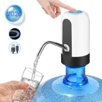 Water Bottle Pump, 2020 New USB Charging Automatic Drinking Water Pump, Portable Electric Water Dispenser Water Bottle Switch for Universal 5 Gallon Bottle for office, kitchen, outdoor activities
