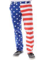 USA American Flag Pants - Men's Patriotic Pants by Tipsy Elves