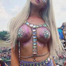 Victray Sequins Body Chains Top Summer Beach Body Chain Bra Fashion Harness Charm Body Accessories Jewelry for Women and Girls