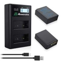 Powerextra 2X NP-W126/NP-W126S Battery & LCD Charger Compatible with Fujifilm X100F X-A10 X-A7 X-A5 X-A3 X-A2 X-A1 X-E2 X-E2S X-Pro2 X-Pro3 X-T1 X-T2 X-T3 X-T10 X-T20 X-T30 X-T100 X-T200 X-H1