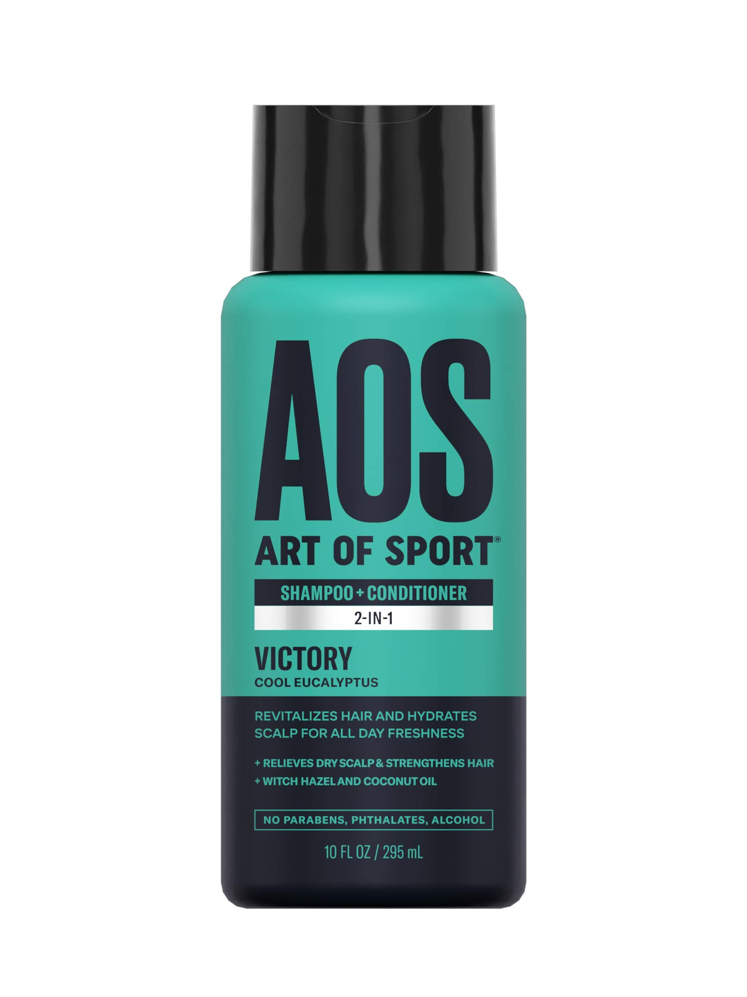 Art of Sport Sulfate Free Shampoo and Conditioner, Victory Scent, Men's Shampoo for Dry Scalp, Hair Strengthening with Hydrating Coconut Oil, For all Hair Types, 10 oz