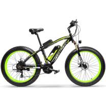 Extrbici Electric Bike Cruiser Bicycle XF660 1000W 48V 17AH e-Bike for Adults 4.0 x 26 Inch Fat Tire Mechanica Brake Brushless 21 Speeds Pedal Assist LCD Display