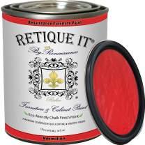 Retique It Chalk Furniture Paint by Renaissance DIY, 32 oz (Quart), 57 Vermilion