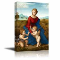 "wall26 - Madonna in The Meadow by Raphael - Canvas Print Wall Art Famous Oil Painting Reproduction - 32"" x 48"""