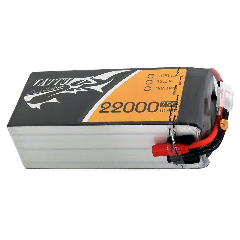 Tattu 22000mAh 25C 6S 22.2V LiPo Battery Pack with AS150+XT150 Plug for DJI S800 S900 S1000+ UAV Drone RC Multicopter E1200