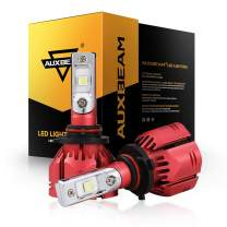 Auxbeam W Series 9005 Led Headlight Bulbs with 2Pcs of Led Bulbs 70W 7000lm Super Bright SMD LED Chips, with Decoder