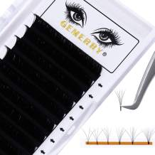 0.07 Easy Fan Lashes D curl Volume Eyelash Extensions Single Size 19mm Easy Fanning Lashes 2D 3D 4D 5D 6D-10D Rapid Blooming Lashes Long by GEMERRY (0.07-D curl-19mm)