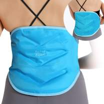 Relief Expert Ice Packs for Back Injuries Reusable Gel Cold Pack for Lower Back Lumbar Waist Hip Pain Relief, Cold Compress for Sciatica, Coccyx, Scoliosis Herniated Disc – Flexible, Hands Free