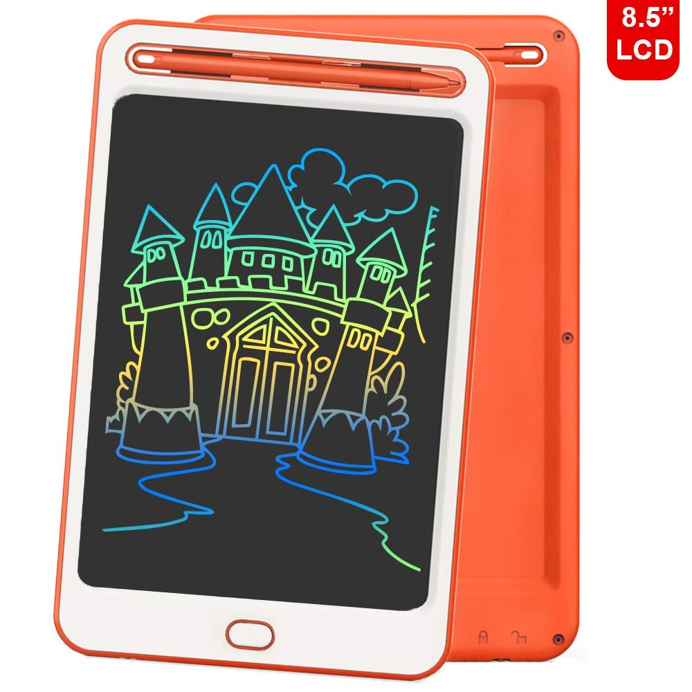 LCD Writing Tablet Richgv 8.5 Colorful Inches Electronic Writing & Drawing Doodle Board with Memory Lock for Home, School,Office