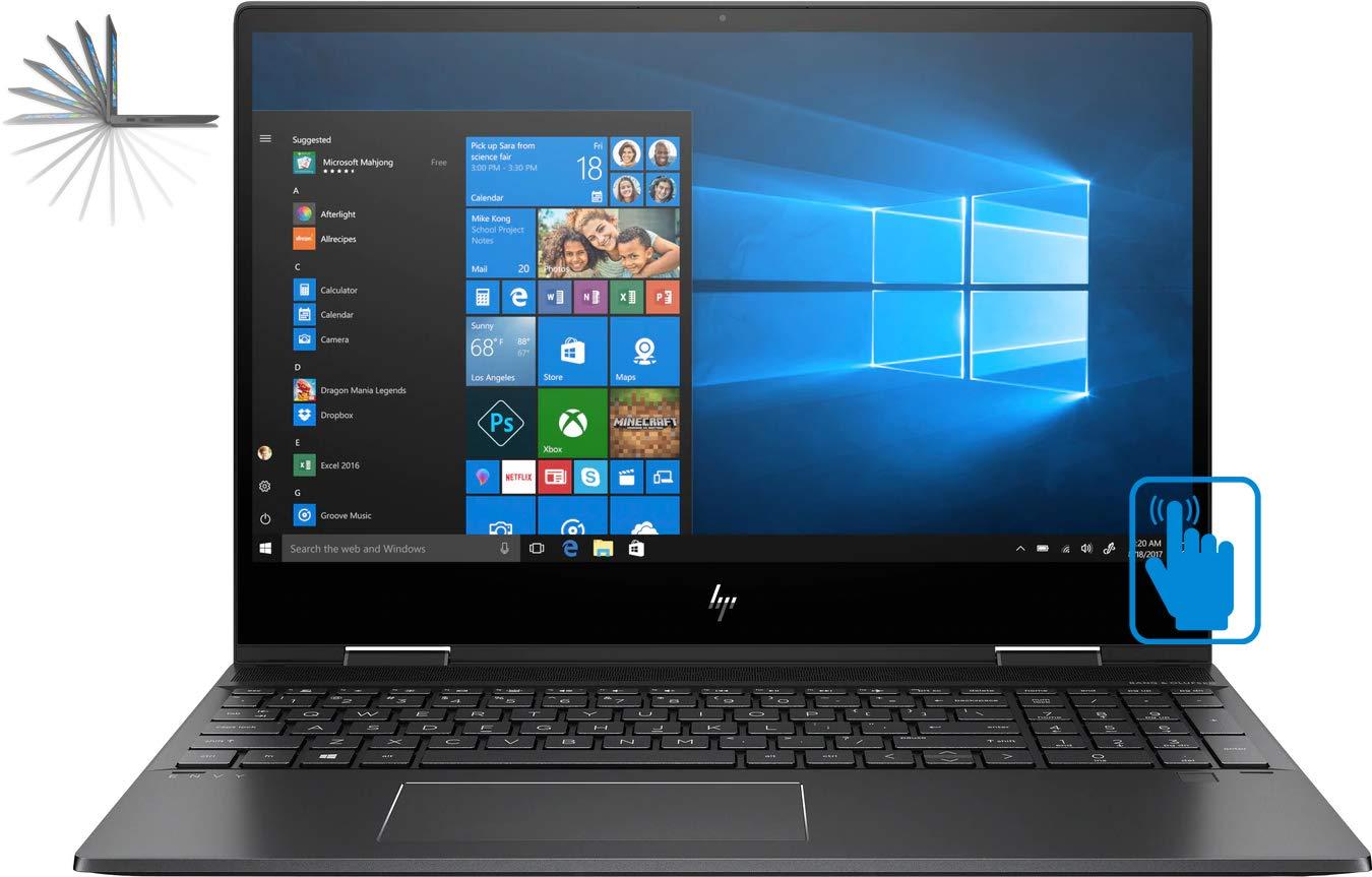 "HP Envy X360 15z Yoga Style 2-in-1 Convertible Laptop (Ryzen 7 2700U Quad-Core Processor, 16GB RAM, 1TB HDD + 512GB Sata SSD, 15.6"" Full HD (1920 x 1080) Touchscreen, Radeon Vega 10, Win 10 Home)"