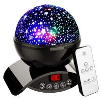 Star Projector Night Light for Kids - Baby Night Light Projector for Bedroom - with Timer Remote and Chargeable - Best Gift for Kids - Black