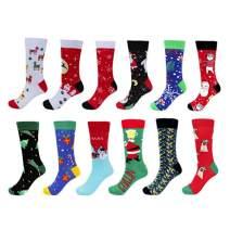 Neferlife Christmas Socks Colorful Funny Cozy Socks for Women Children Adult