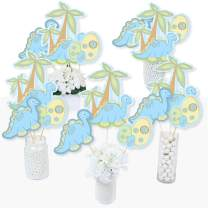 Baby Boy Dinosaur - Baby Shower or Birthday Party Centerpiece Sticks - Table Toppers - Set of 15