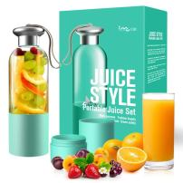 I-MU Portable Mixer, Electric Juicer, Fast Juicer, Portable Squeezer, Blenders, 380ML Cup, 3000mAh Li-ion battery with USB Charger (2Pcs Share the cup)