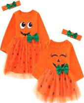 Aslaylme Little Sister Thanksgiving Outfits Baby Girls Pumpkin Turkey Clothes
