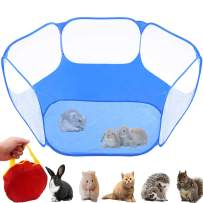 GABraden Small Animals Tent,Reptiles Cage,Breathable Transparent Pet Playpen Pop Open Outdoor/Indoor Exercise Fence,Portable Yard Fence