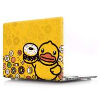 """HRH Candy Yellow Duck Print Design PC Laptop Body Shell Protective Hard Case for MacBook Air 13.3"""" (A1466/A1369) Not Compatible 2018 Newest Version A1932"""