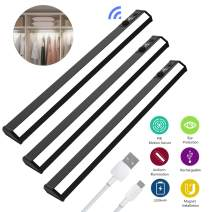 Motion Sensor Under Cabinet Lights, SONATA Wireless Closet Light USB Rechargeable Ultra Slim LED Light for Kitchen Wardrobe Cupboard Pantry (3 Pack)